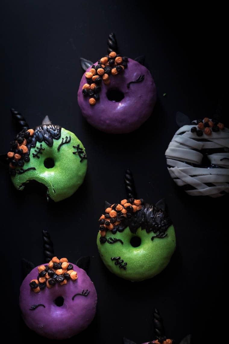 Halloween Unicorn Donuts