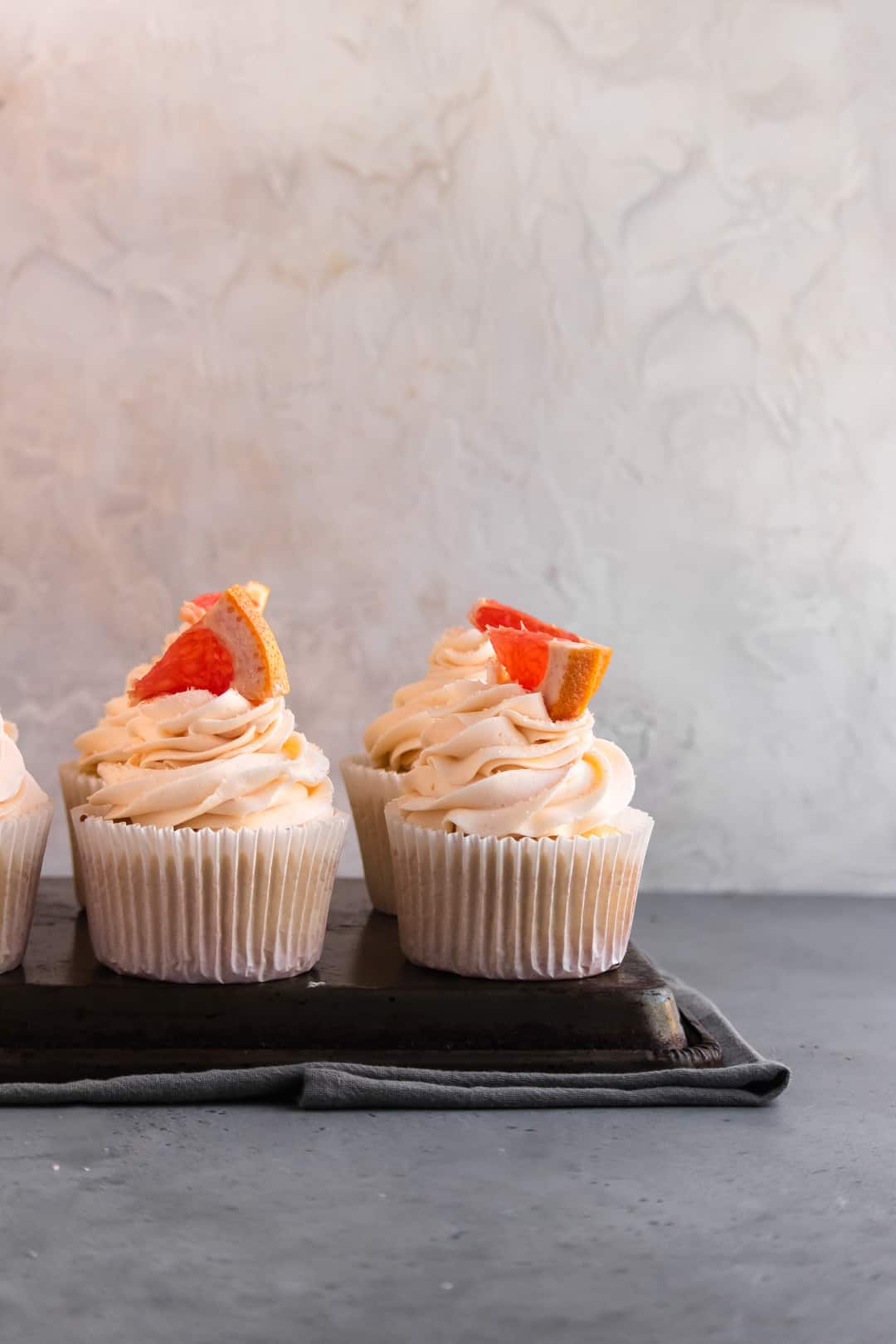Vanilla Cupcakes with Grapefruit buttercream
