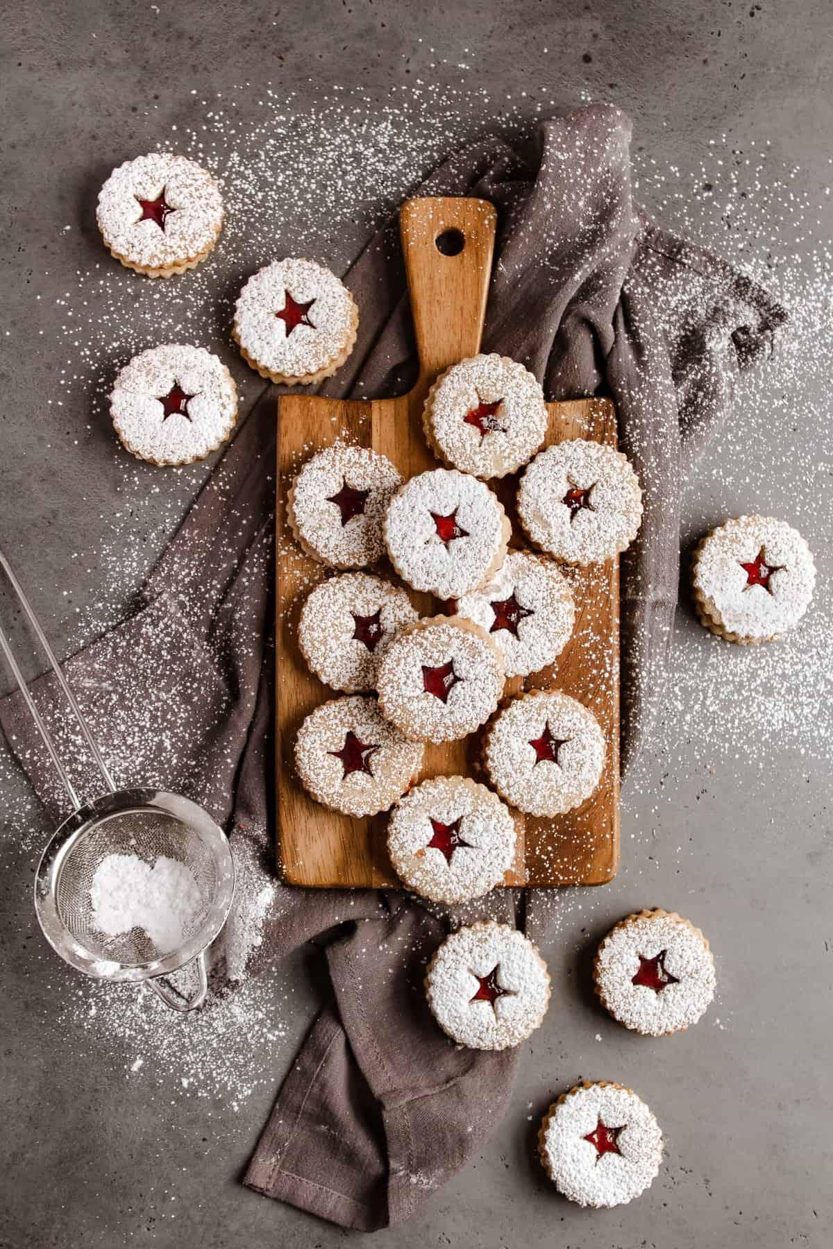 Cake Crumbs Linzer Cookies