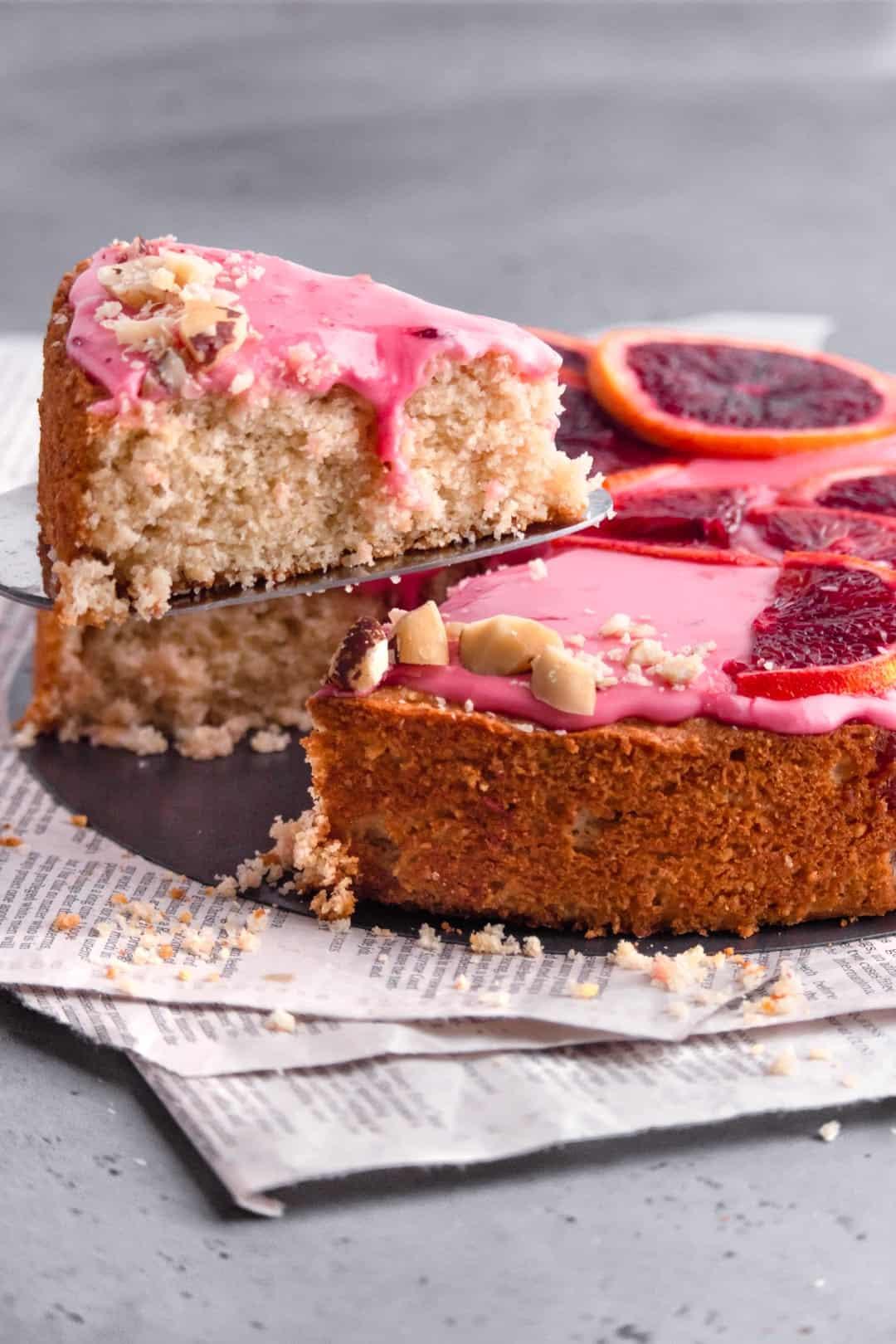 Brazilian Nut Blood Orange Cake