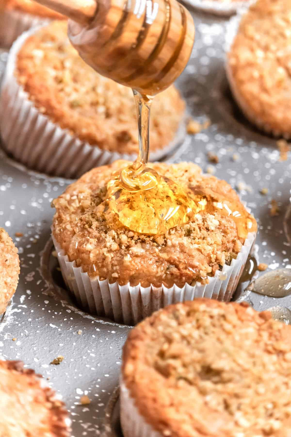Honey Orange Blossom Baklava Muffins