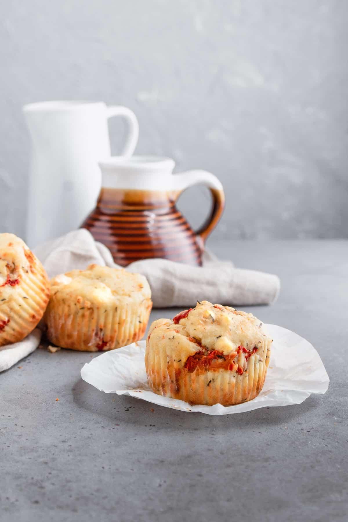 Feta Roasted Pepper Muffins