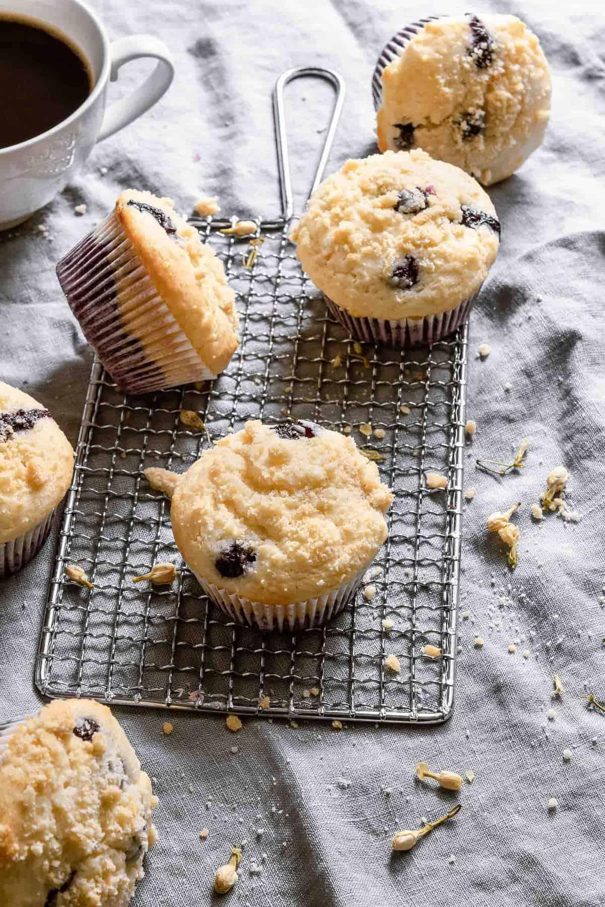 Blueberry Pie Muffins