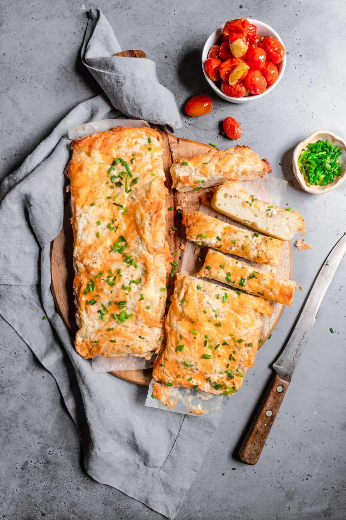 Cheese dip bread with a cheese dip recipe
