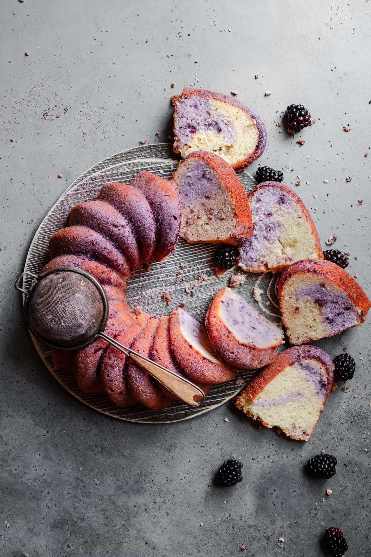 Lemon Blackberry cake recipe.