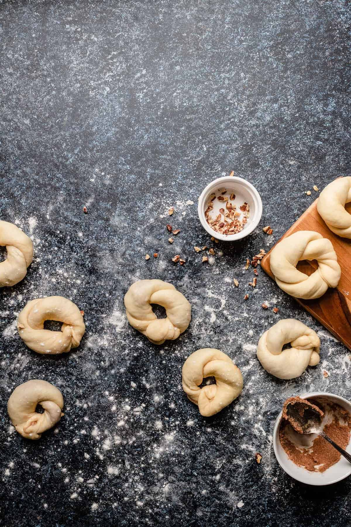 sweet morning cinnamon coffee rings pastry recipe filled with cinnamon and toasted pecans.