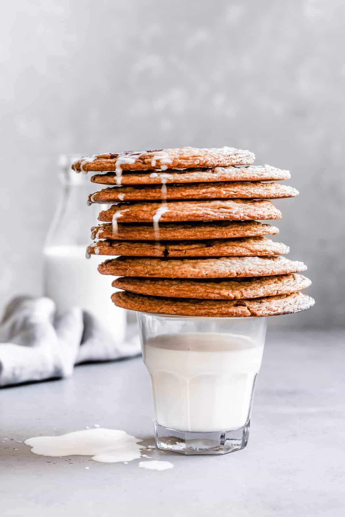 Giant chocolate chip cookie recipe using the pan bang method.