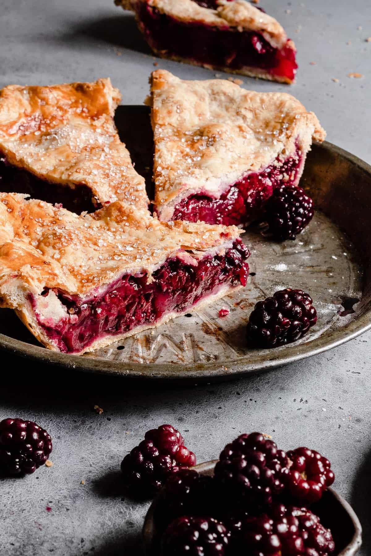 Blackberry ginger pie recipe