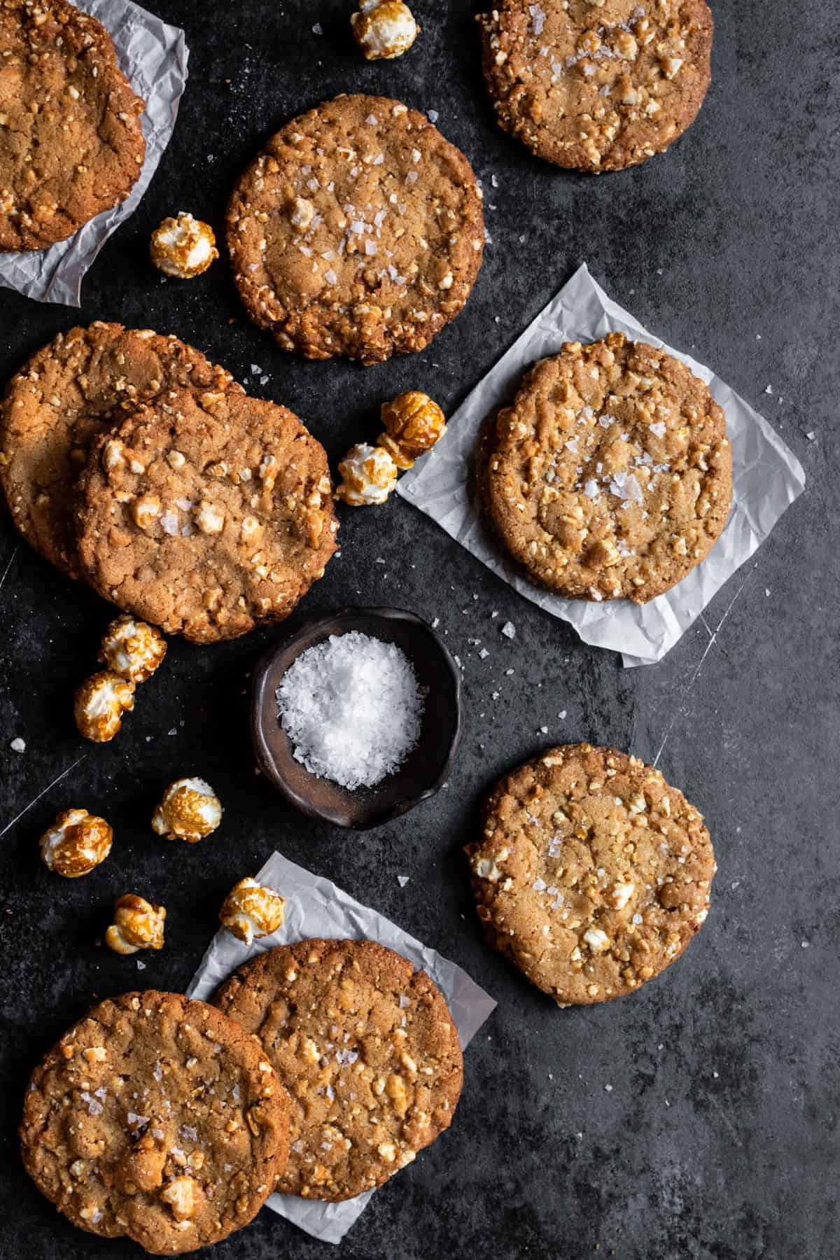 Caramel popcorn cookies recipe