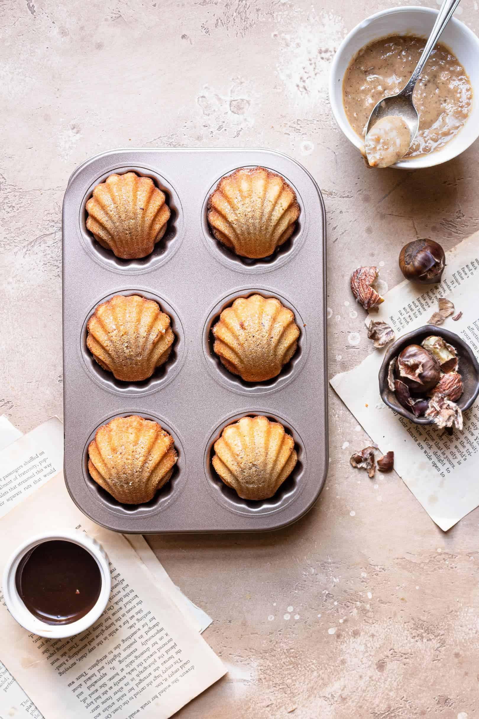 Chestnut Madeleines recipe