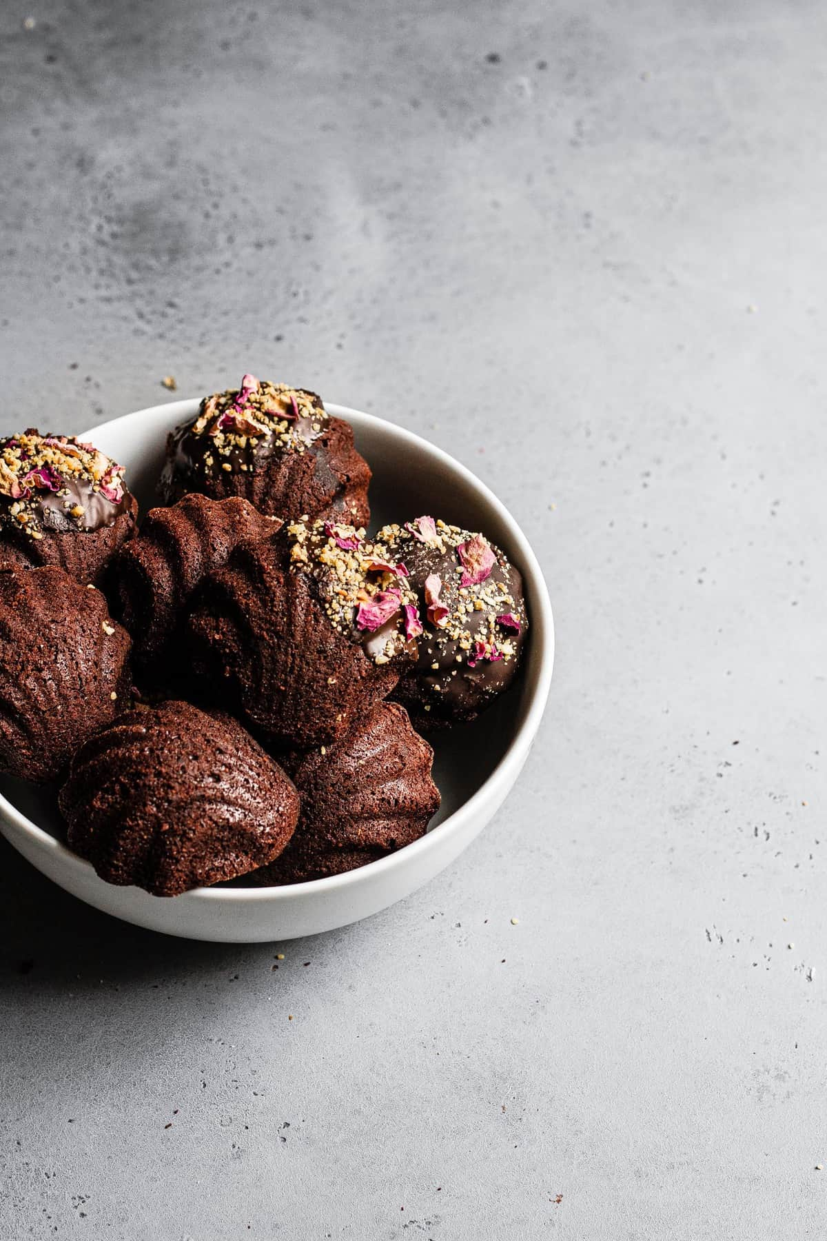 Chocolate-Dipped French Madeleines Recipe.