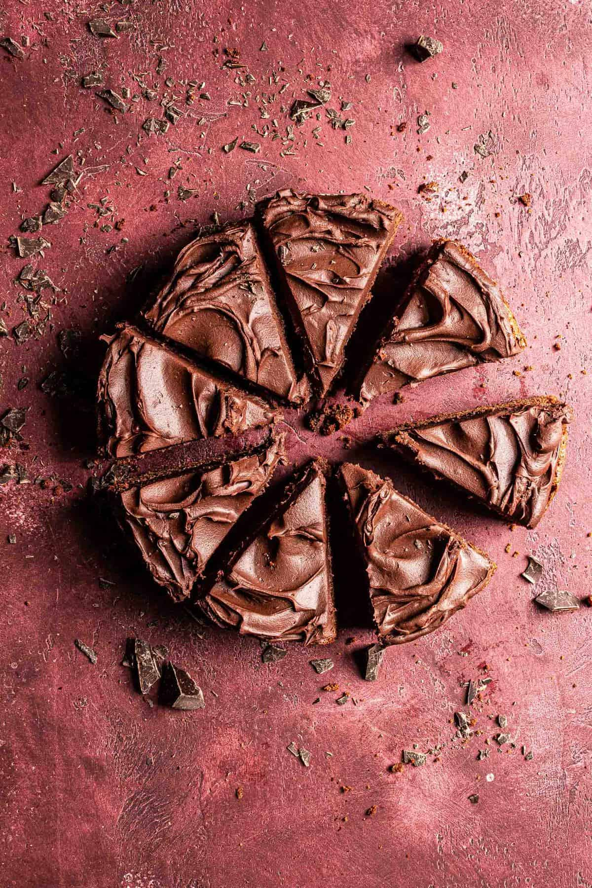 Easy no mixer chocolate celebration cake