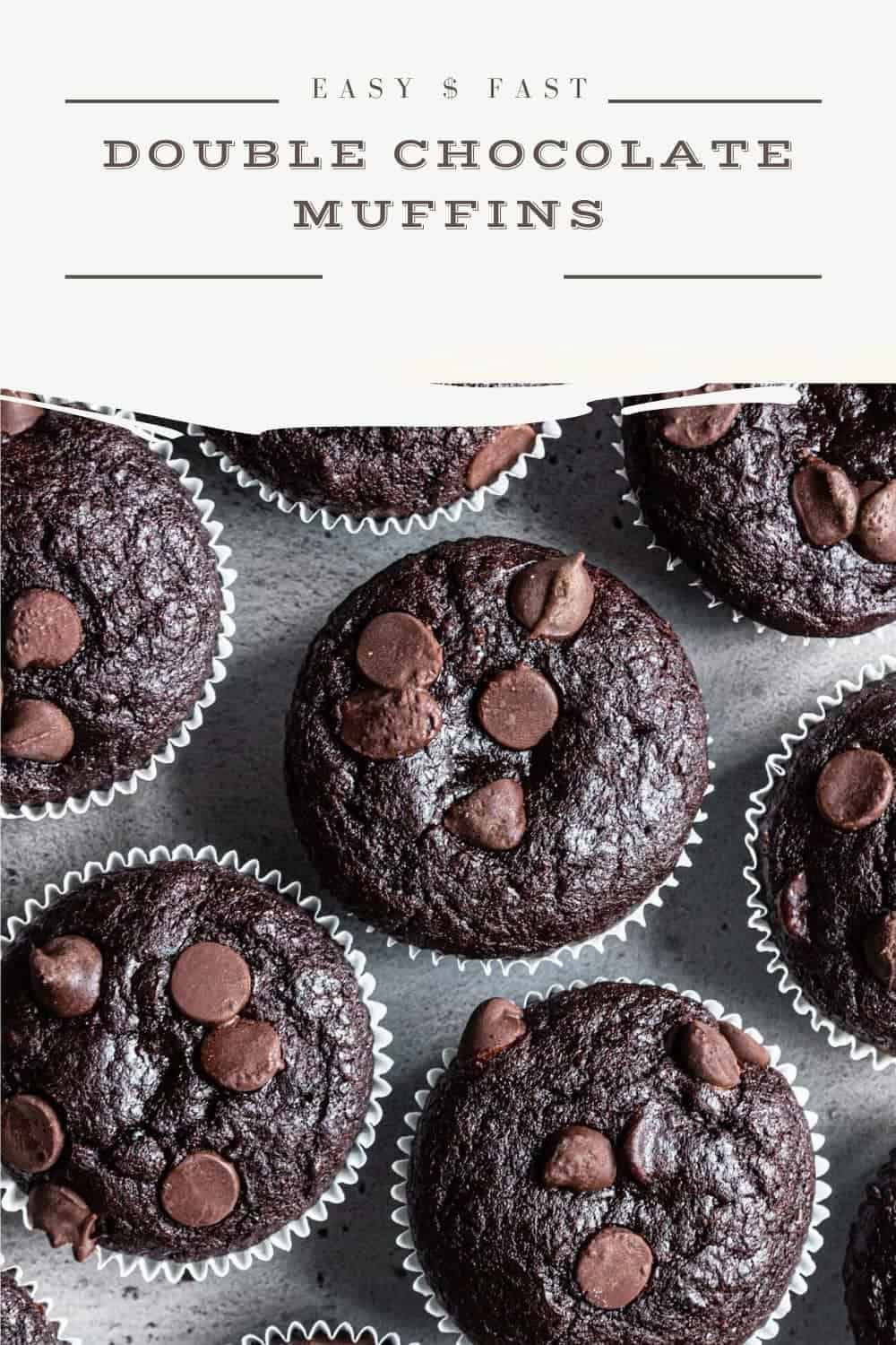 Easy and fast double chocolate muffins
