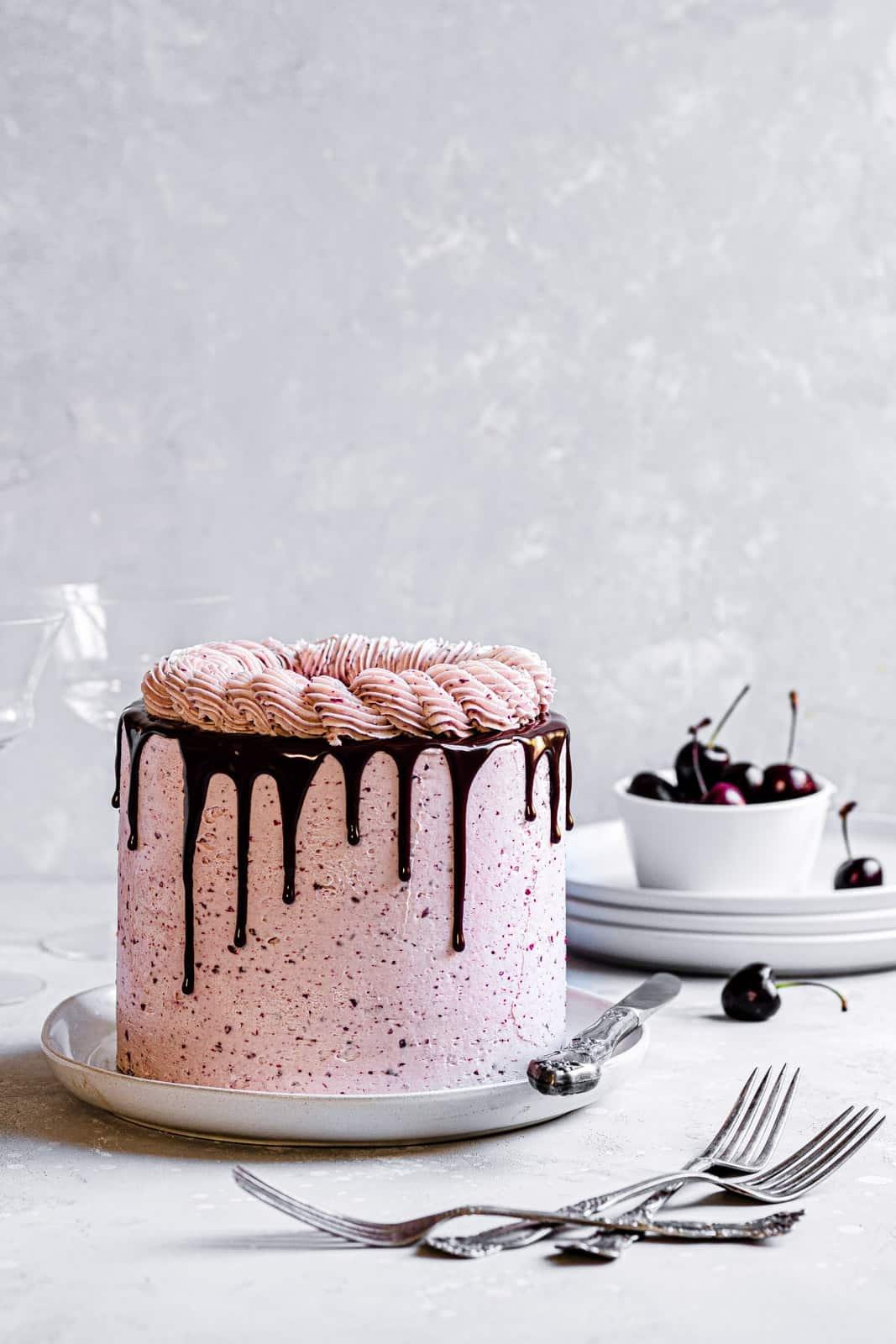 Chocolate cherry layer cake recipe
