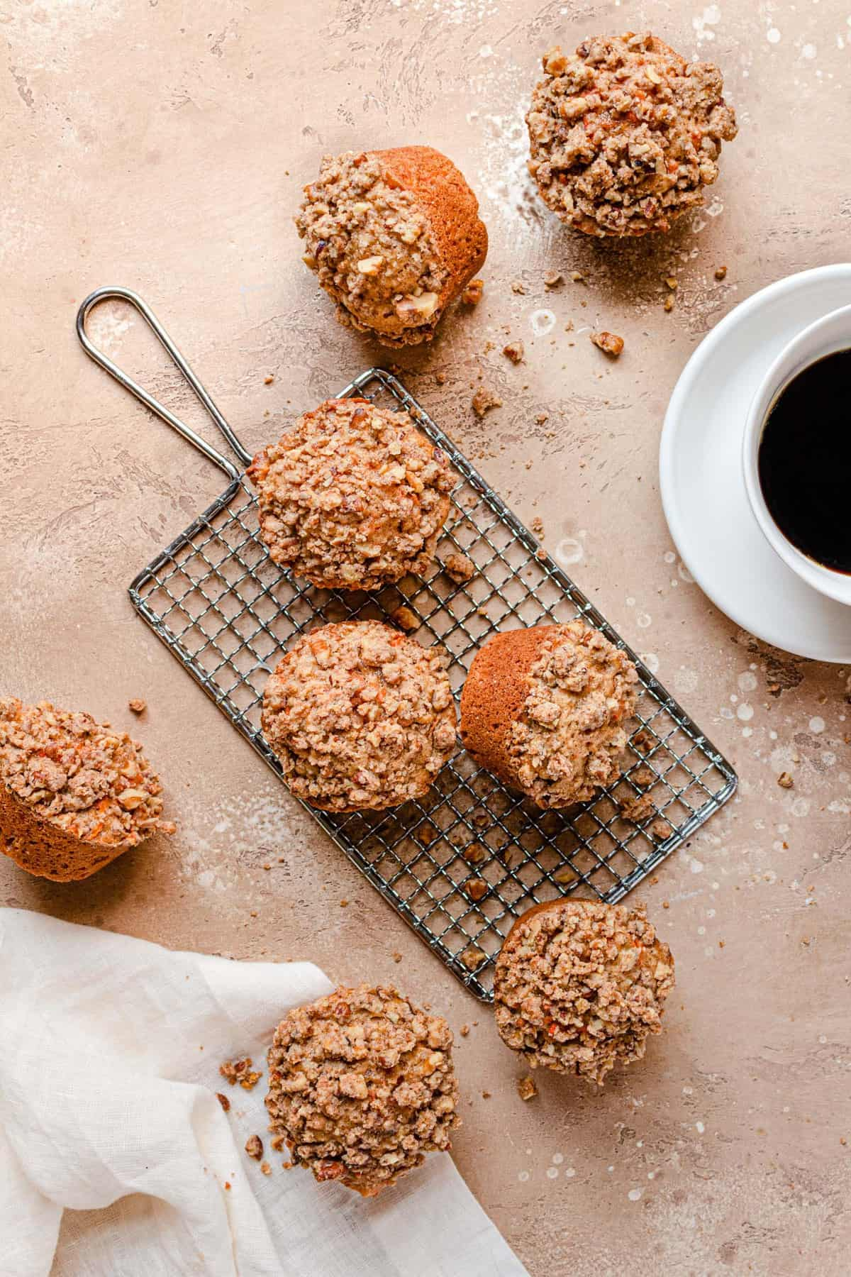 Carrot muffins with nut streusel recipe.