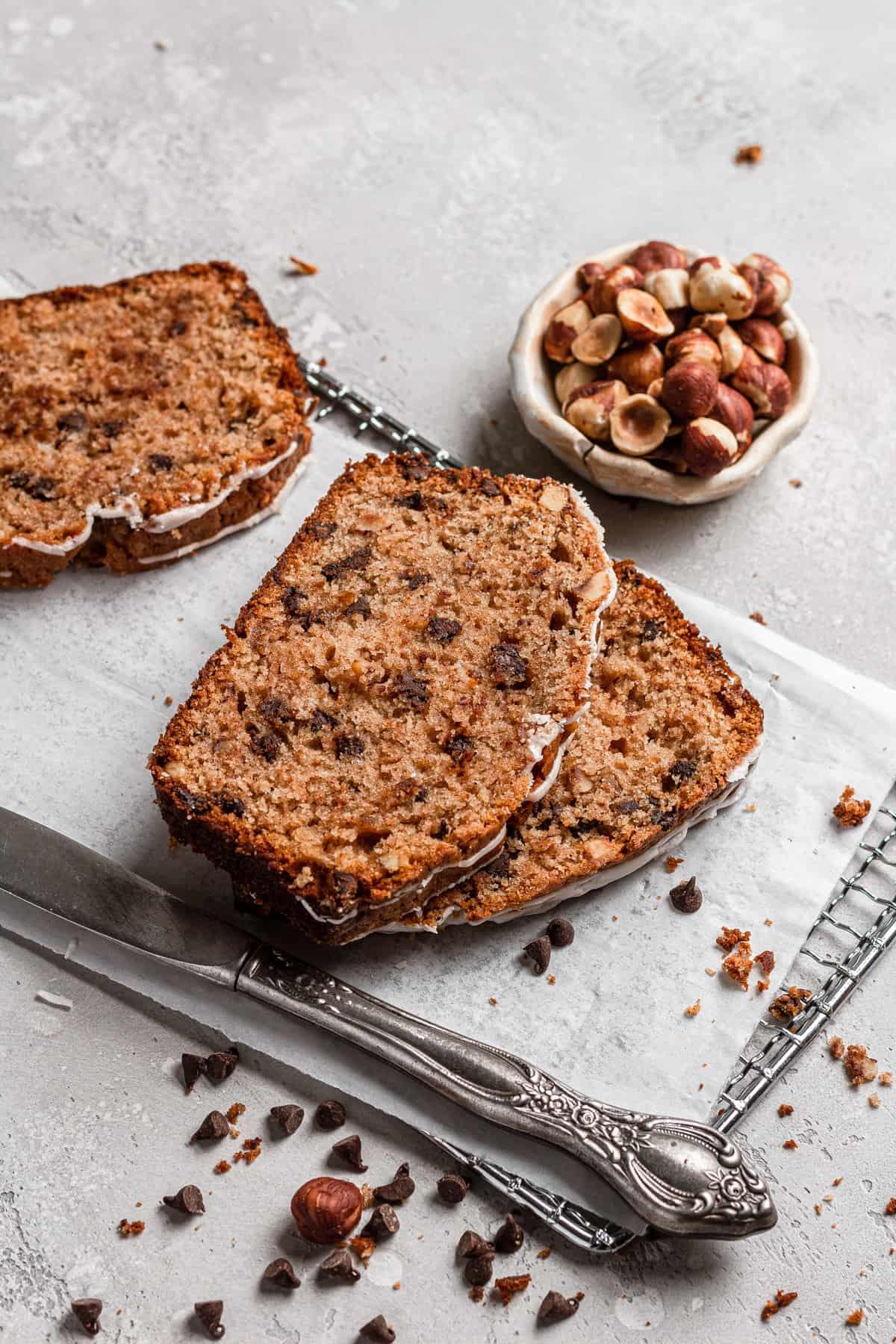 Chocolate chips hazelnut bread recipe