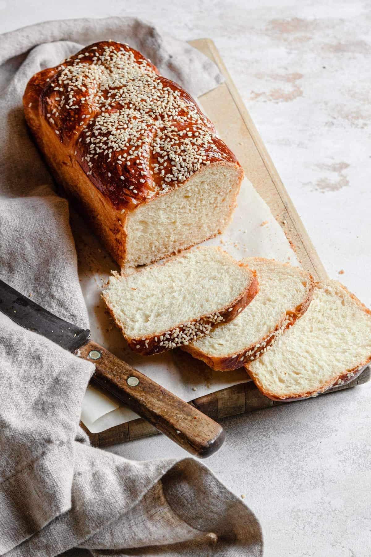 Basic challah bread loaf recipe