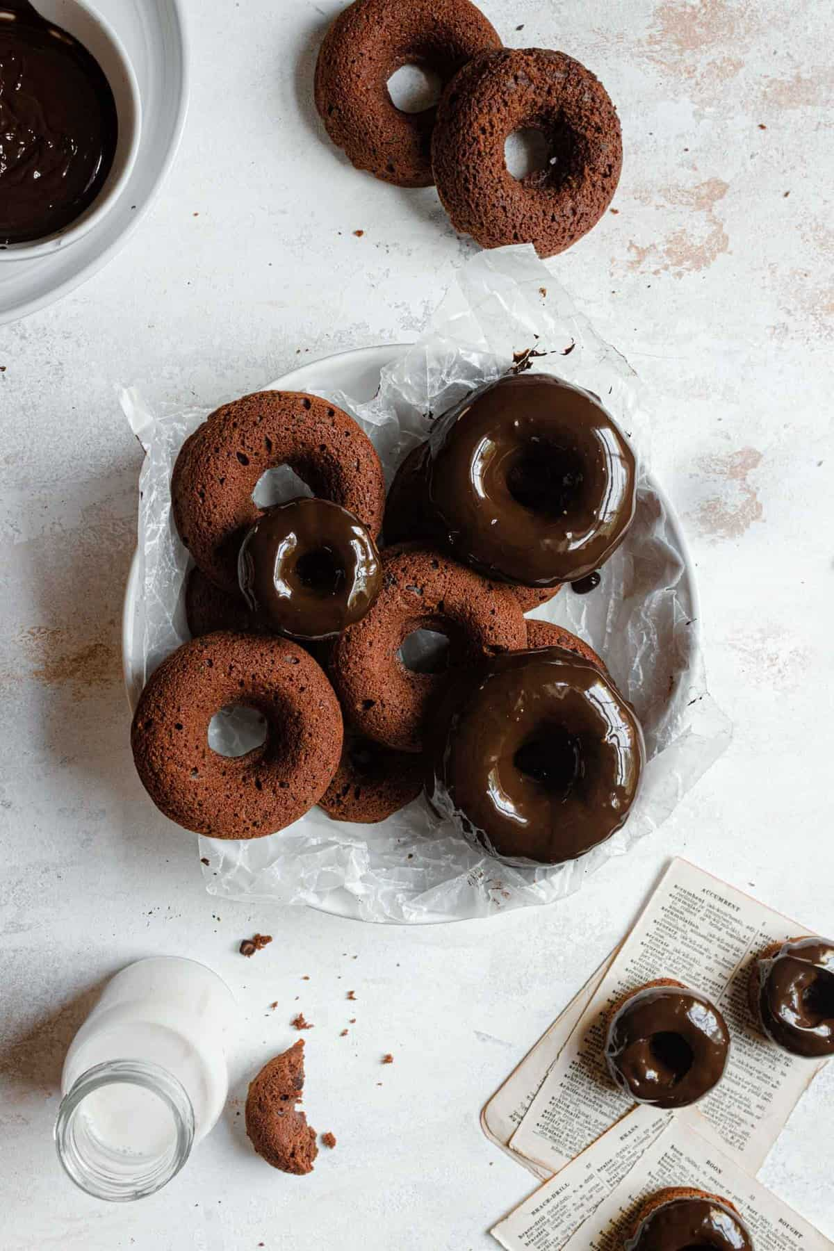 baked chocolate donuts recipe