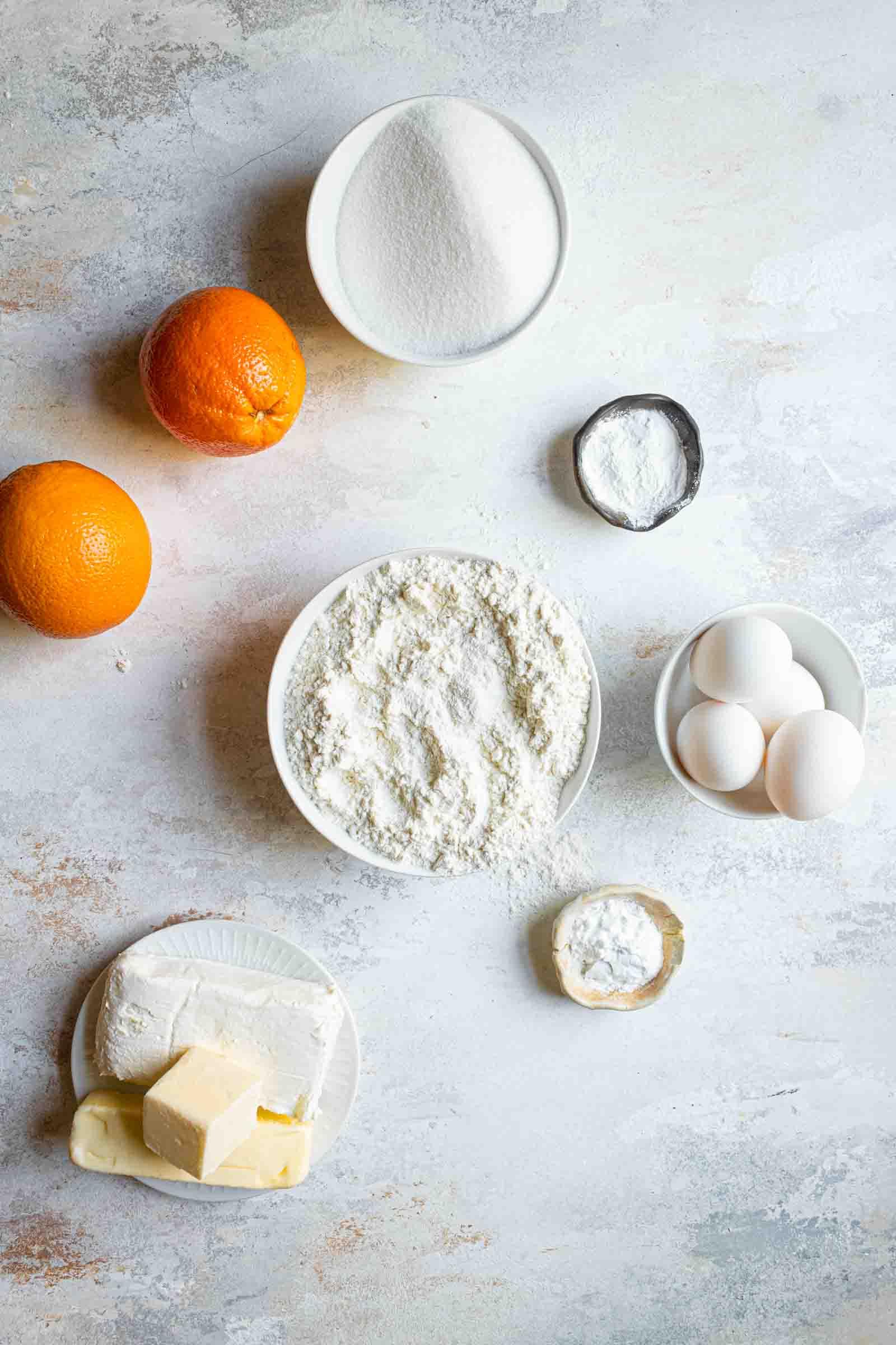 Orange Cream Cheese Cake recipe