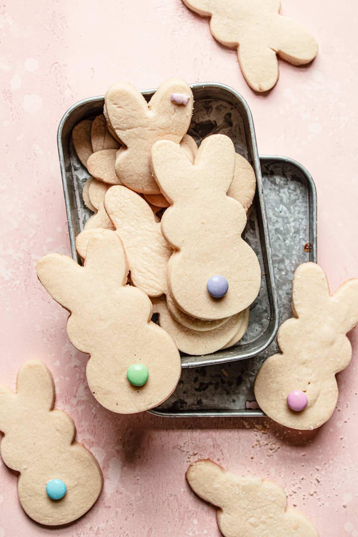 Easter bunny shortbread cookies recipe
