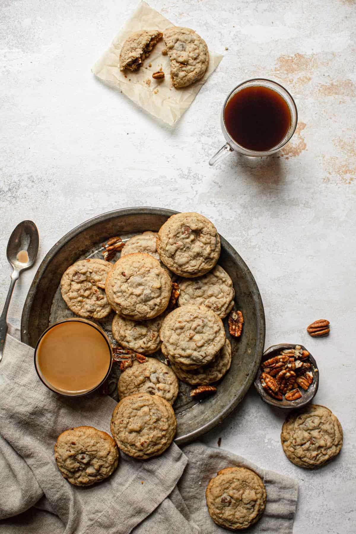 Coffee Pecan Cookies