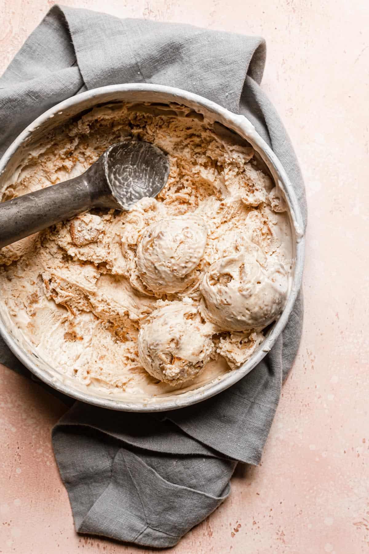 Banana cookie-butter ice-cream