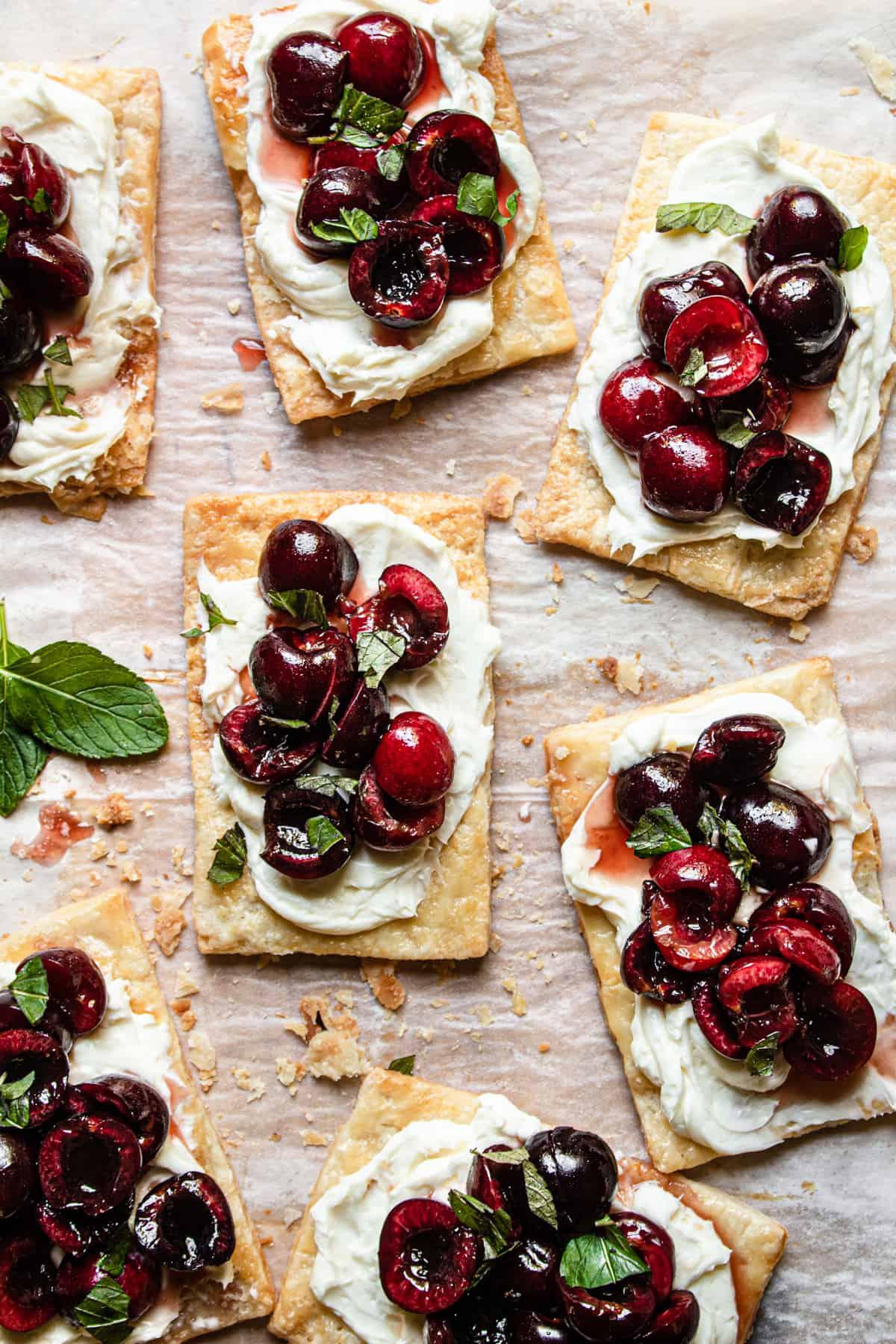 Fresh Cherry mini pies recipe