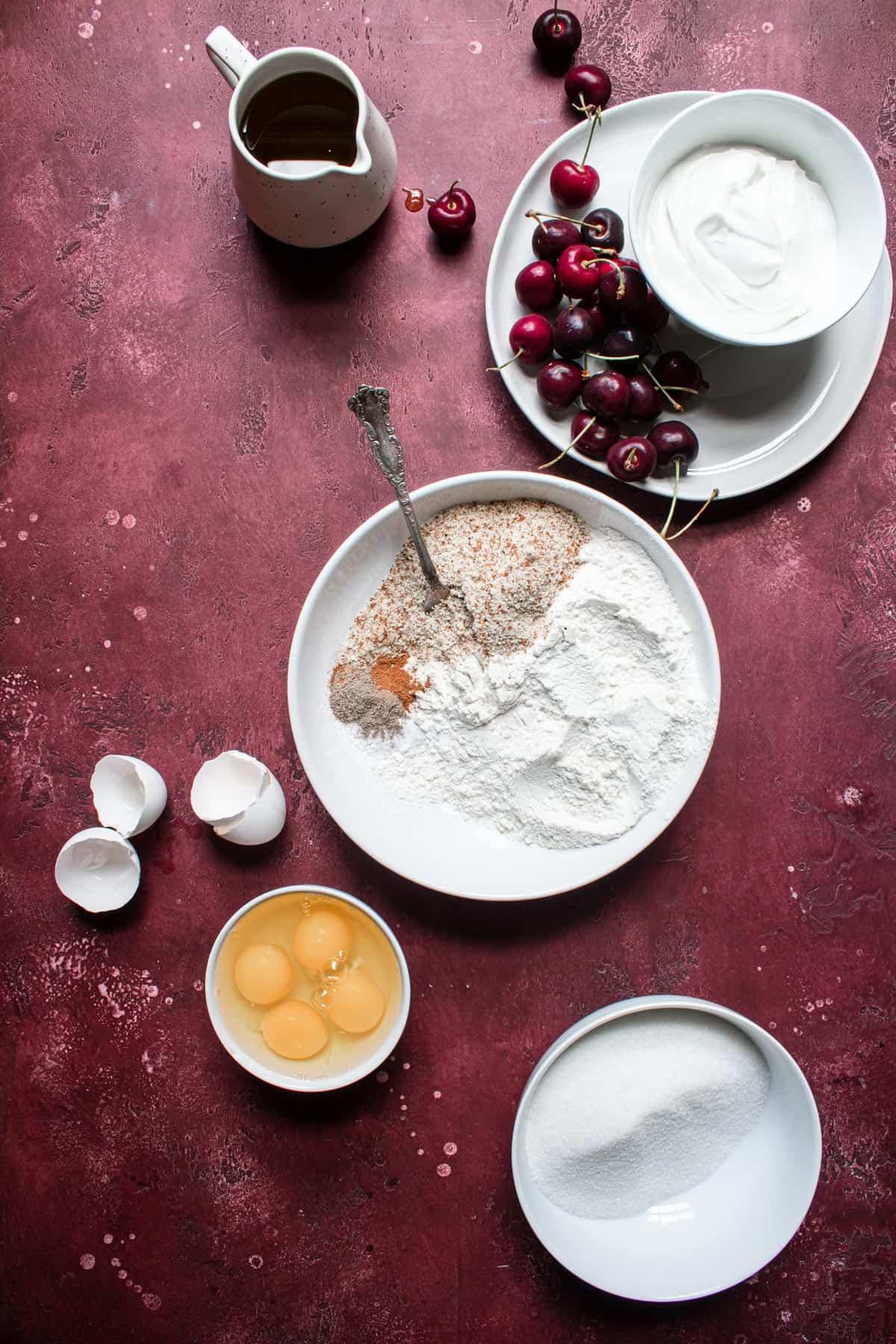 Olive Oil Cherry Cake recipe