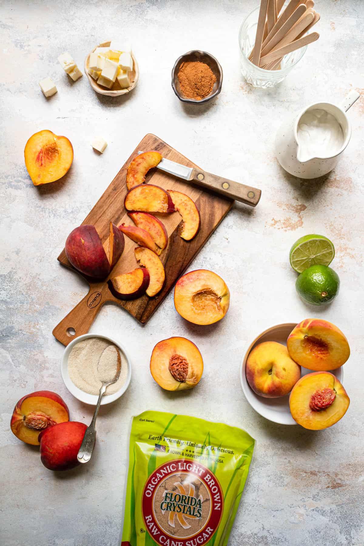 Peach popsicles recipe