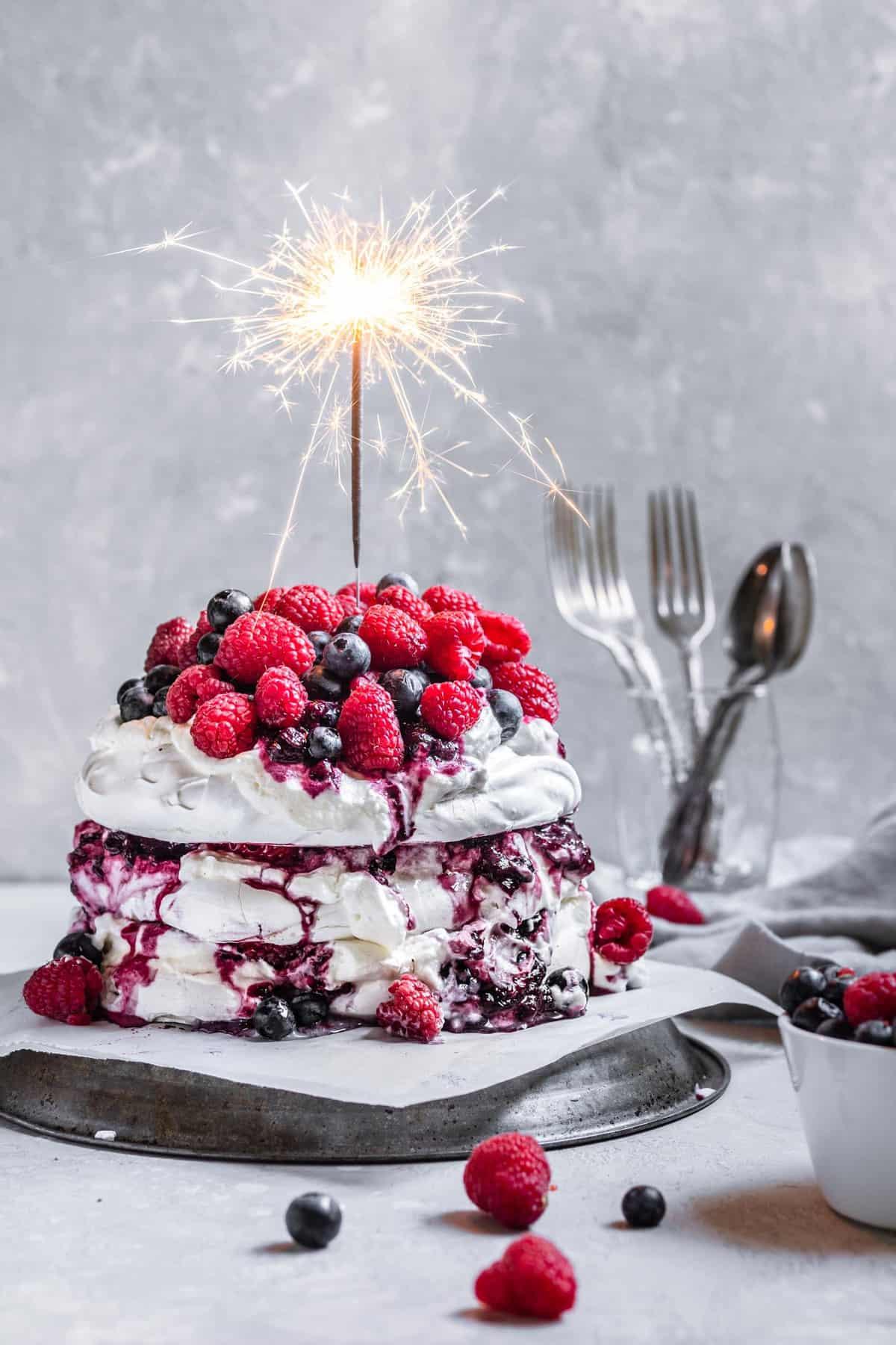 Berry Pavlova Cake
