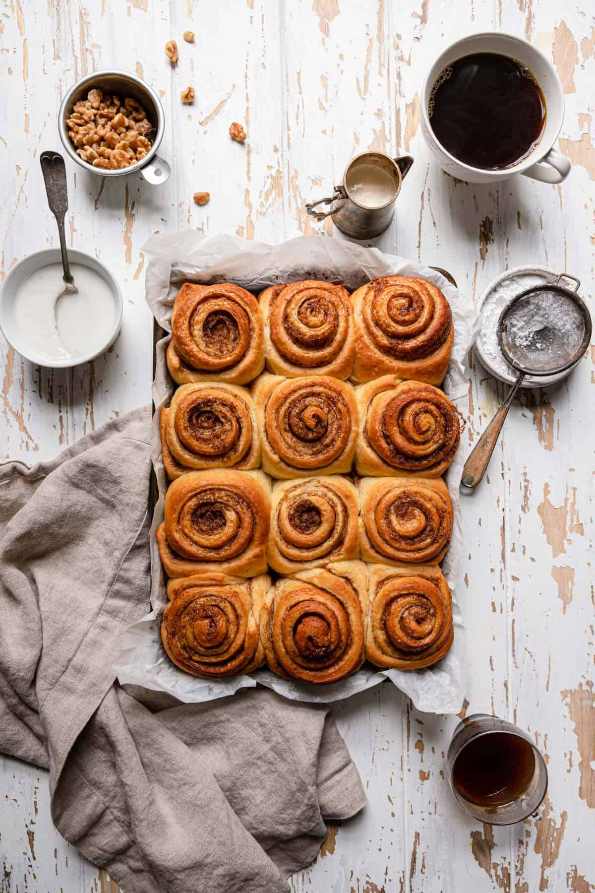 "Cinnamon Rolls recipe from ""the little beach street recipe"" novel."