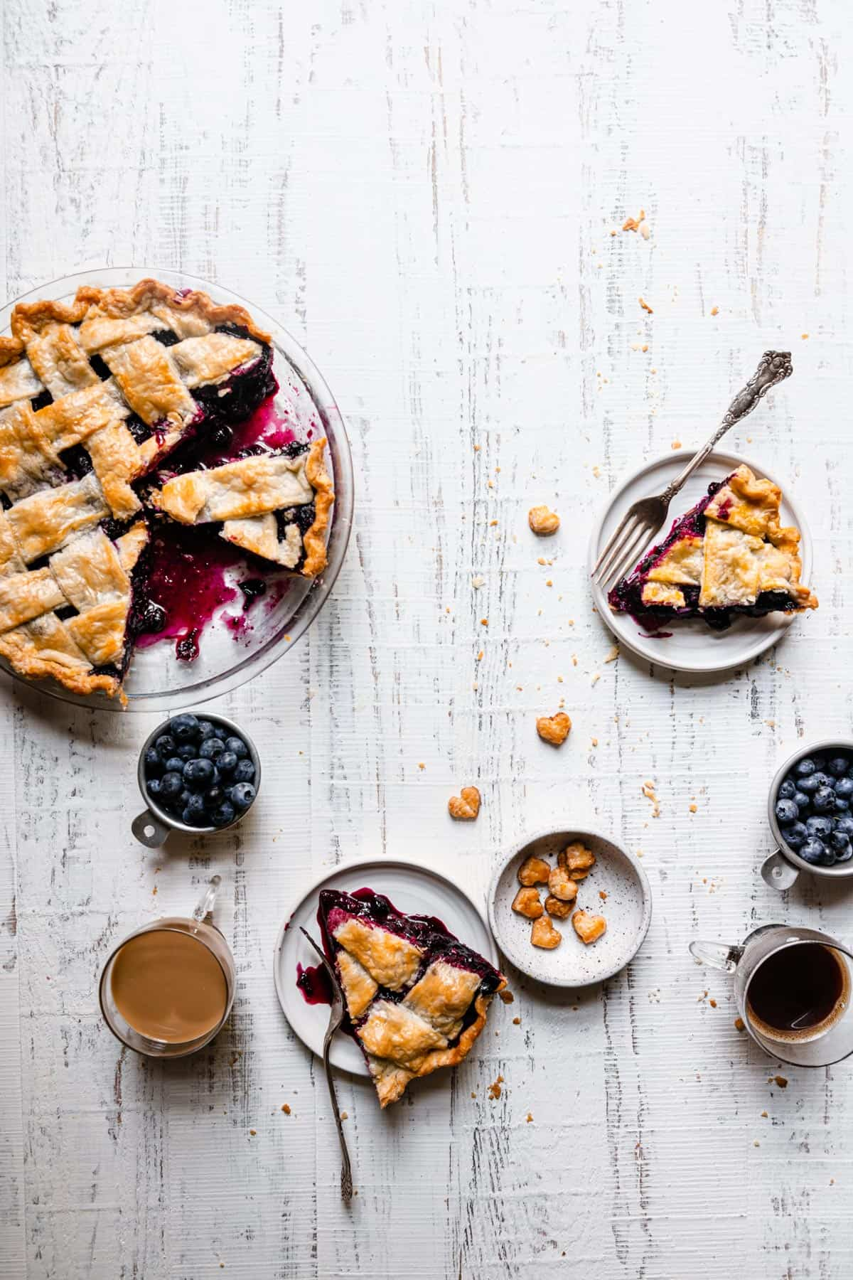 Blueberry lavender pie recipe, how starches thickens.