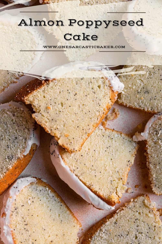 Almond poppyseed bundt cake