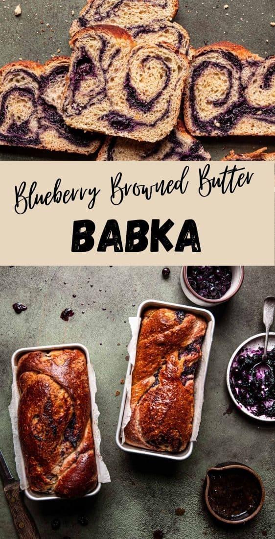 Blueberry Browned Butter Babka recipe