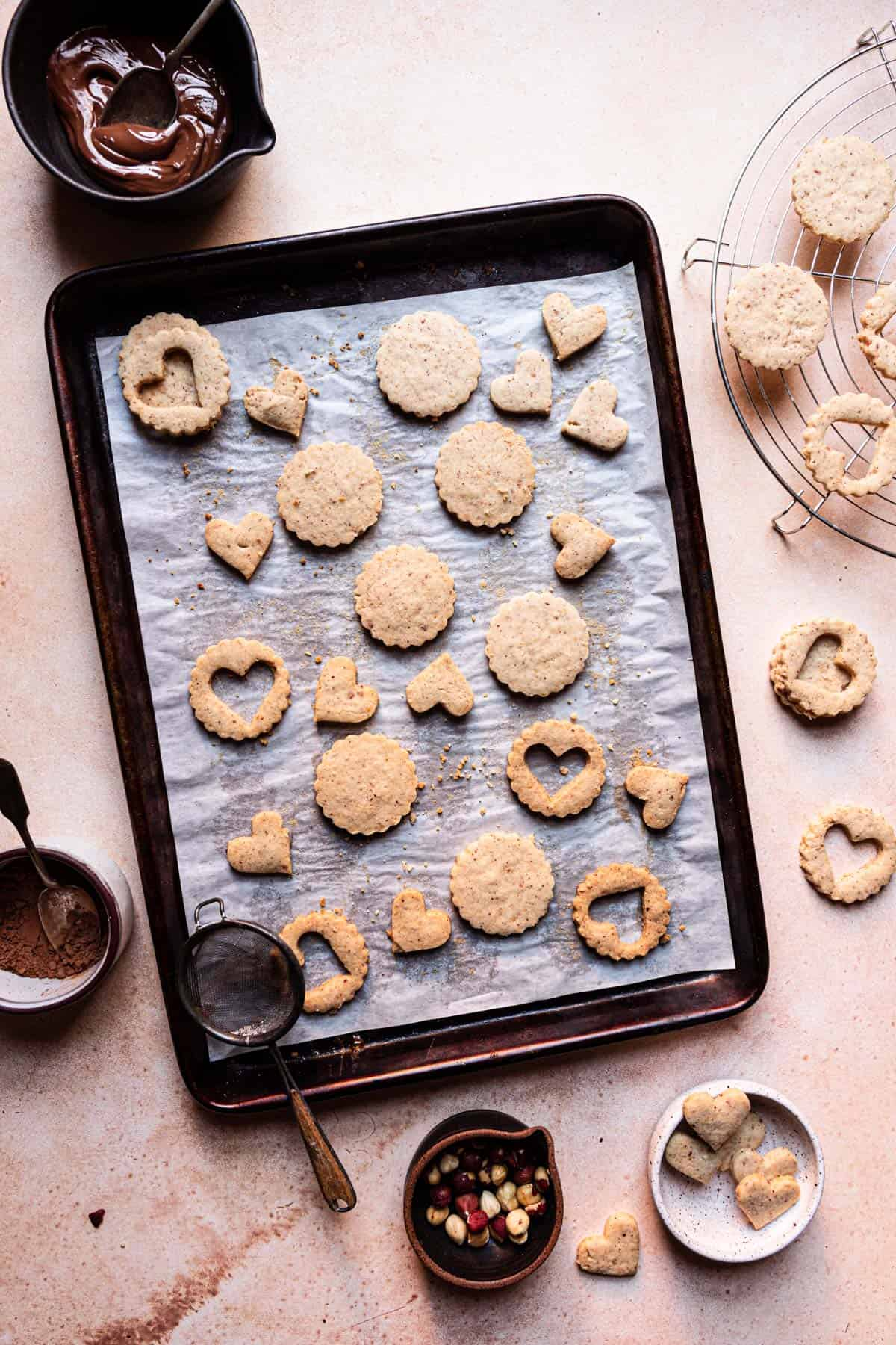 Hazelnut shortbread cookies