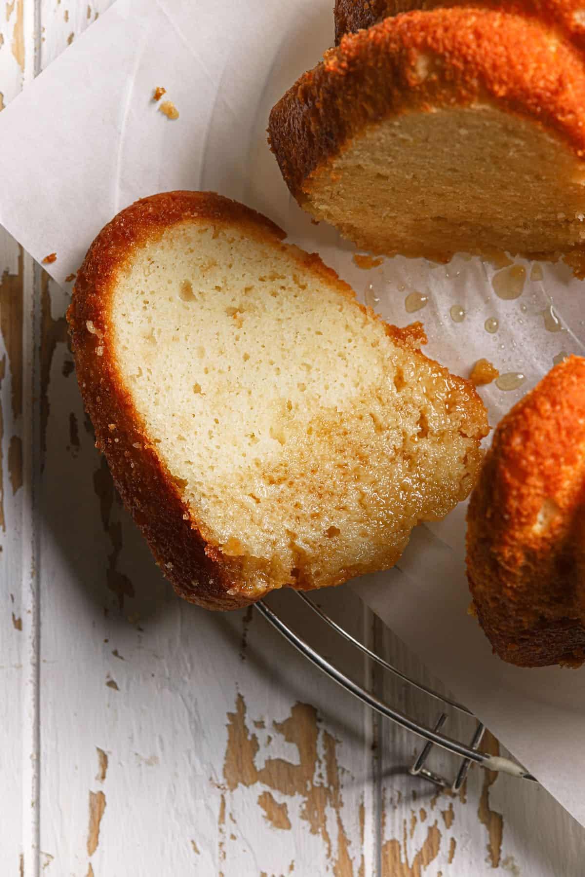 No mixer maple pound cake
