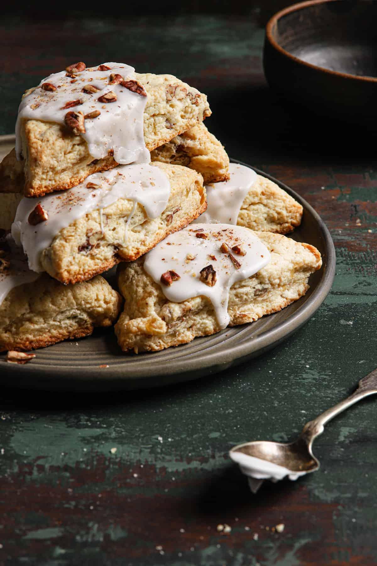 candied ginger pecan scones