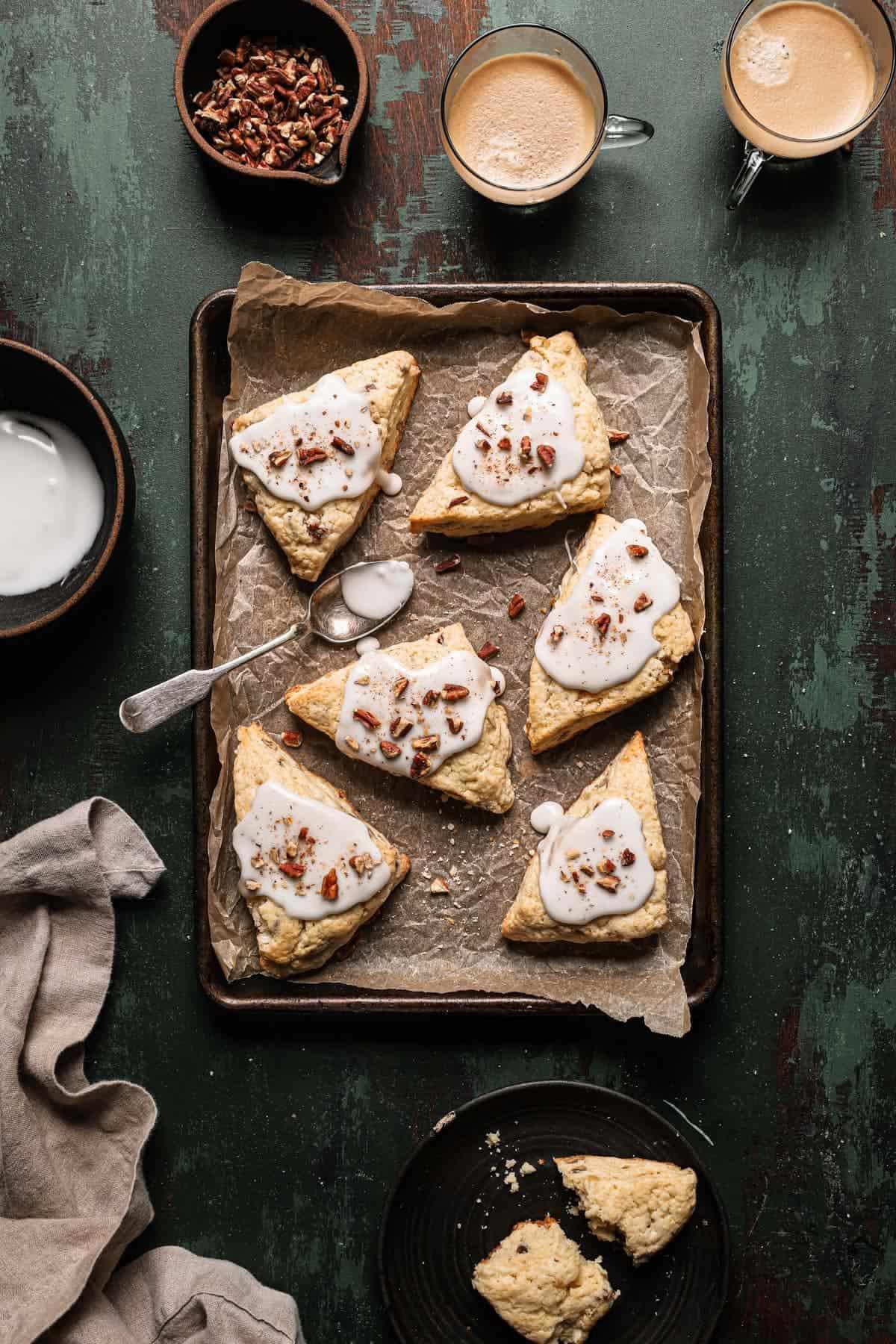 Candied ginger pecan scones recipe